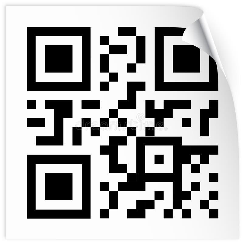 Etiqueta com código do qr ilustração do vetor