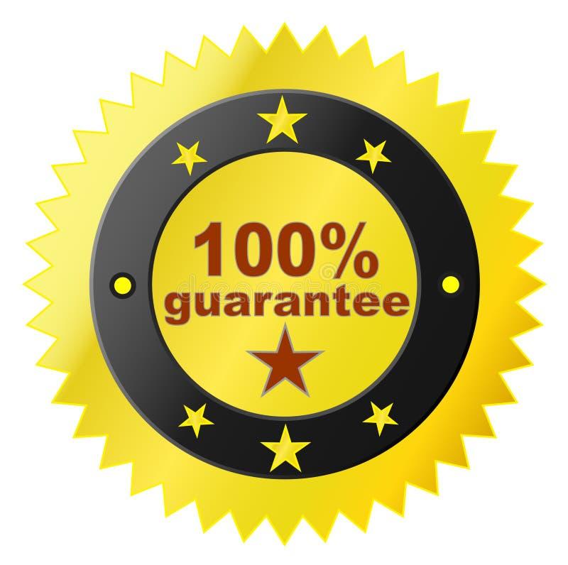 Etiqueta com garantia da satisfação ilustração royalty free