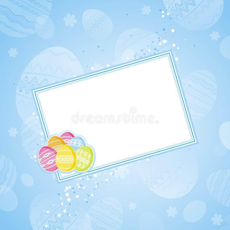 Etiqueta com ovos de easter, vetor ilustração royalty free