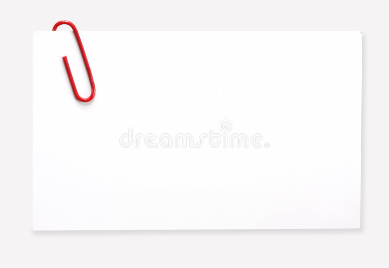 Etiqueta com Paperclip vermelho imagem de stock royalty free