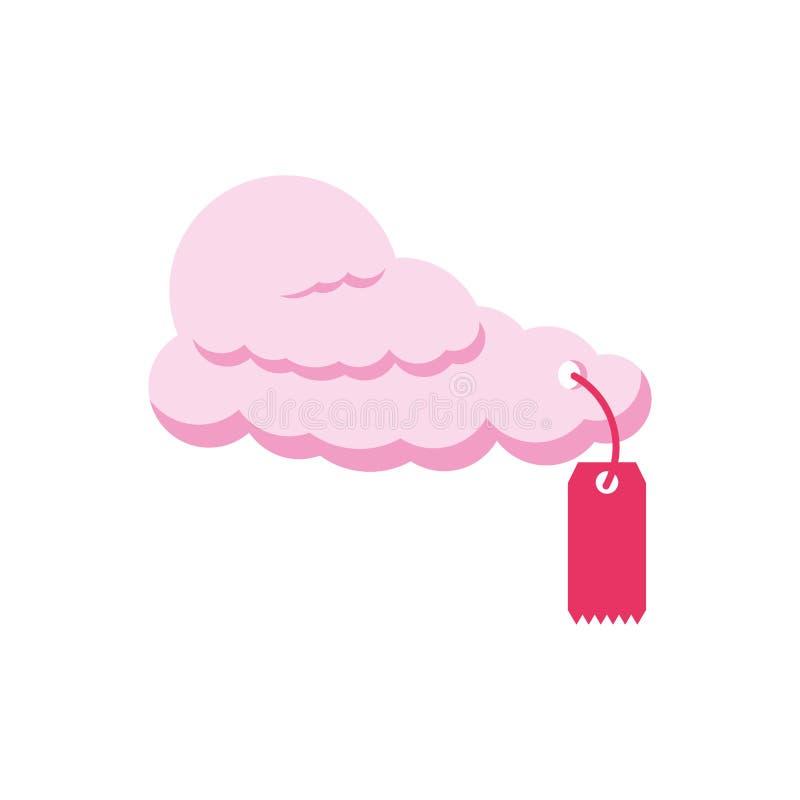 Etiqueta comercial com ícone isolado nuvem ilustração royalty free