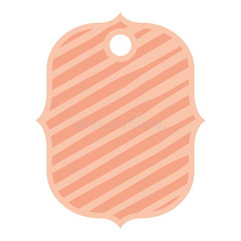 Etiqueta comercial con las rayas libre illustration
