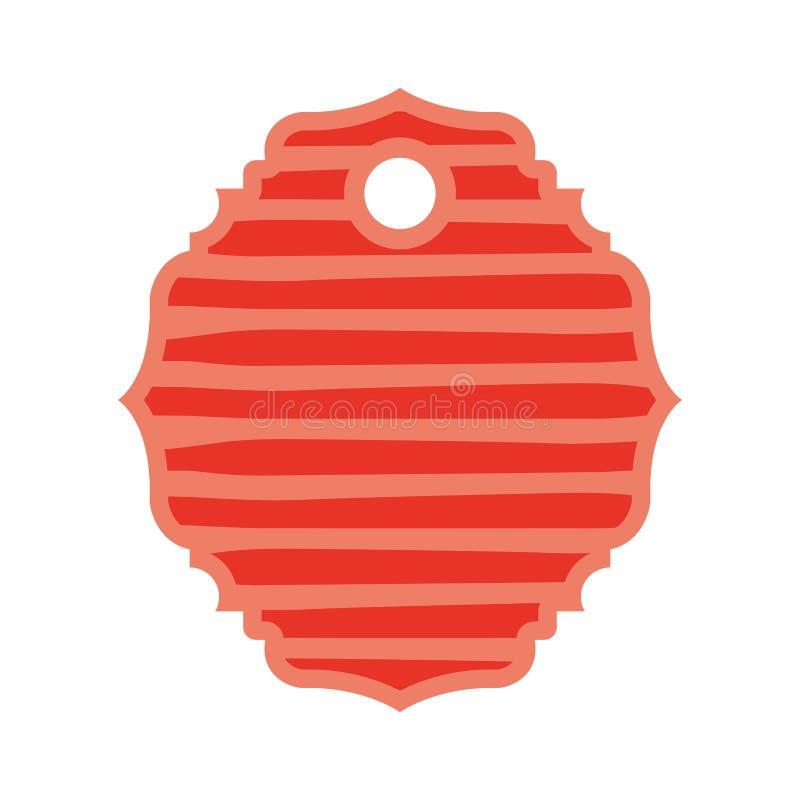 Etiqueta comercial con las rayas stock de ilustración