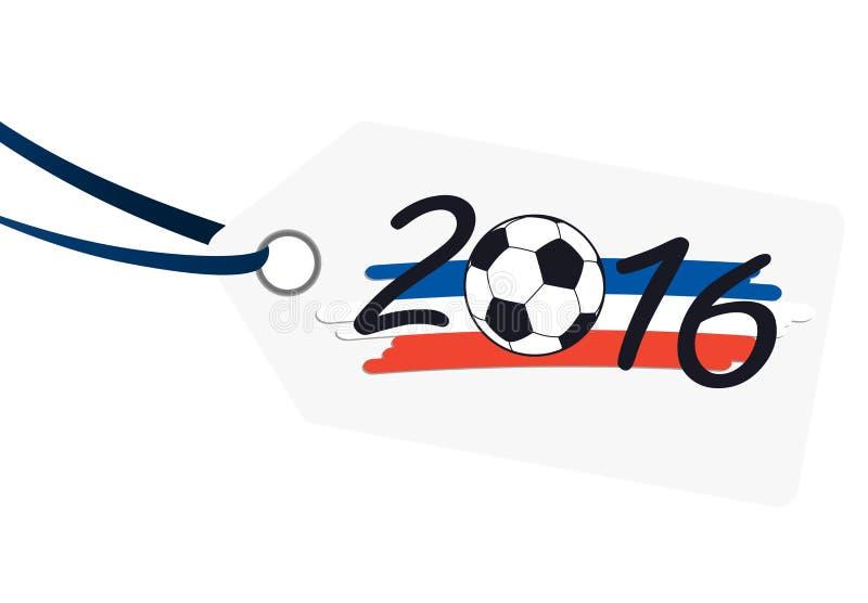 etiqueta con las letras 2016 con colores del nacional de Francia libre illustration