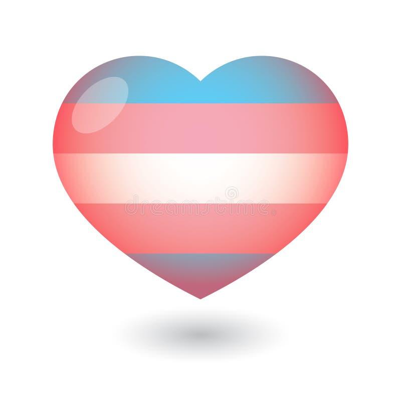 Etiqueta con una bandera del orgullo del transexual foto de archivo libre de regalías