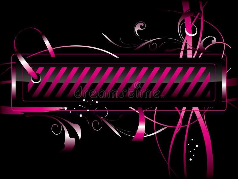 Etiqueta cor-de-rosa ilustração royalty free