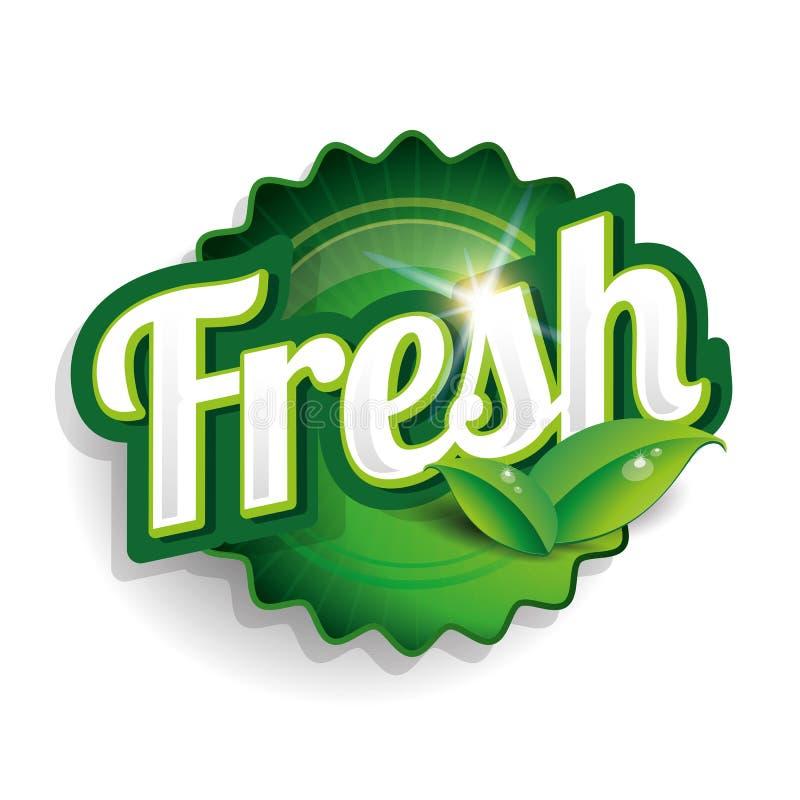 Etiqueta, crachá ou selo dos alimentos frescos ilustração do vetor