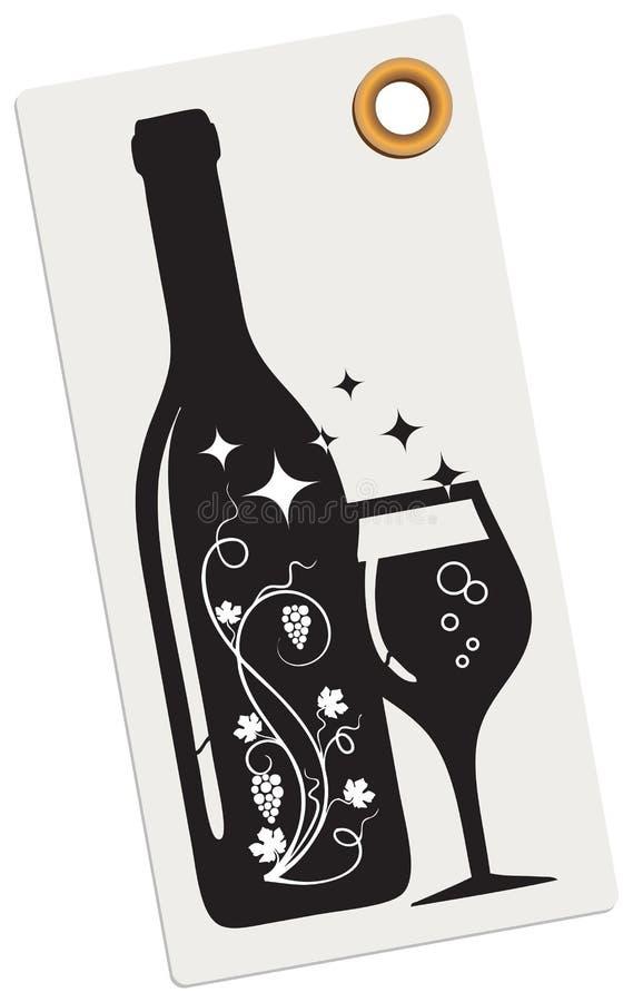 Etiqueta criativa para um boutique do vinho ilustração do vetor