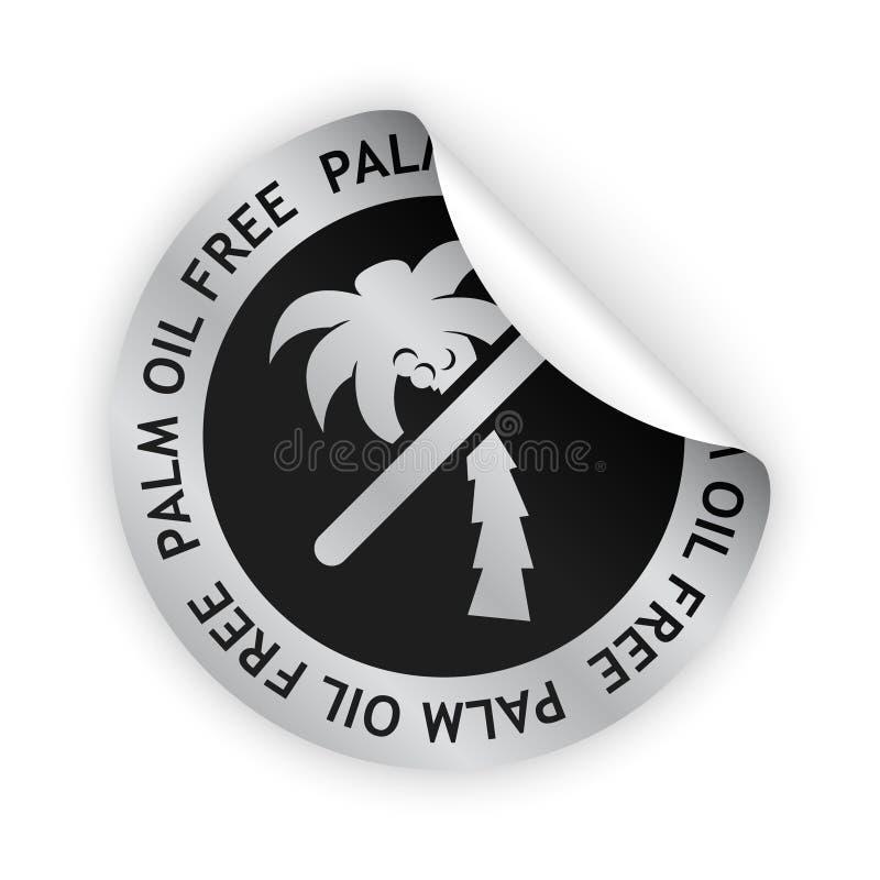 Etiqueta curvada livre do óleo de palma do vetor ilustração do vetor