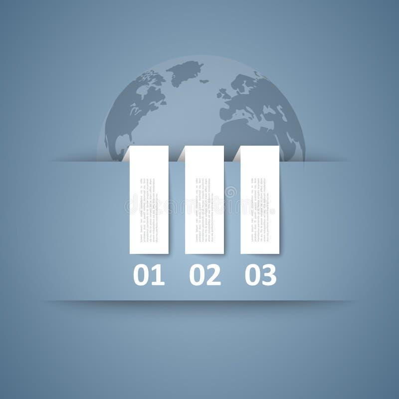 etiqueta 3d/projeto das abas ilustração royalty free