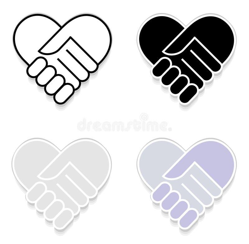 Etiqueta da agitação da mão ilustração stock