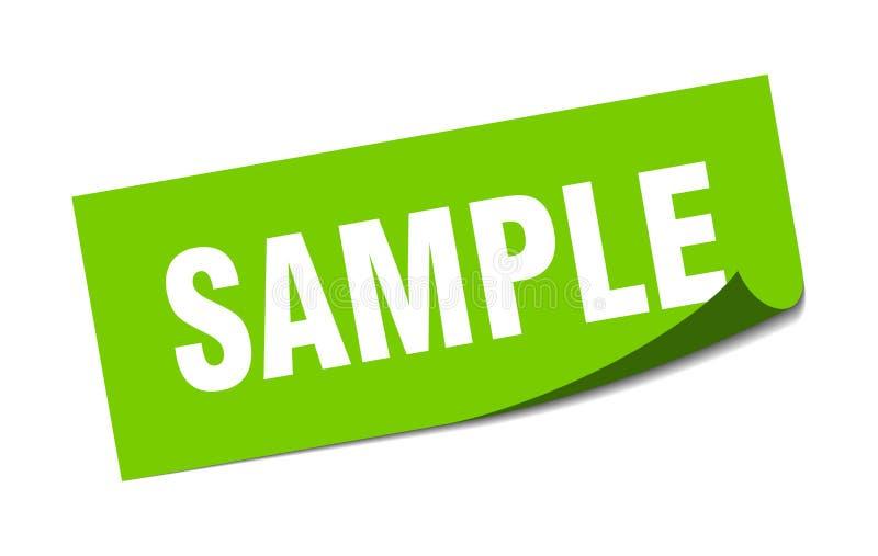 etiqueta da amostra ilustração stock