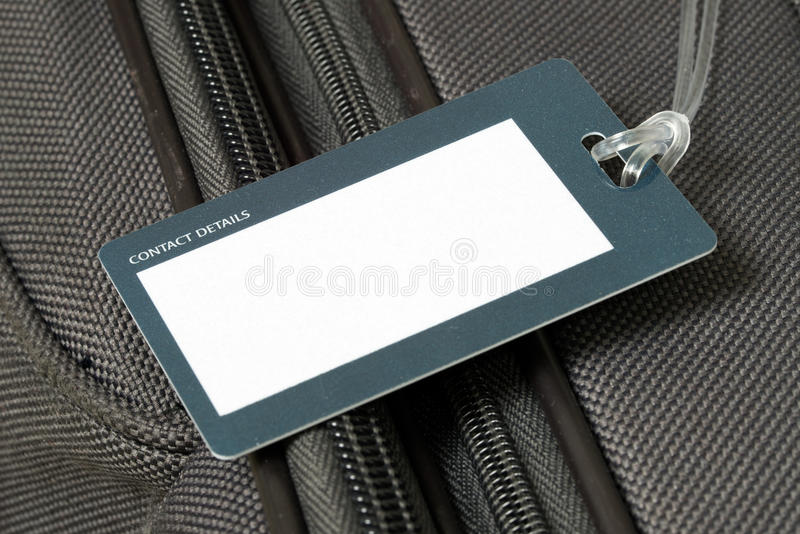 Etiqueta da bagagem imagem de stock