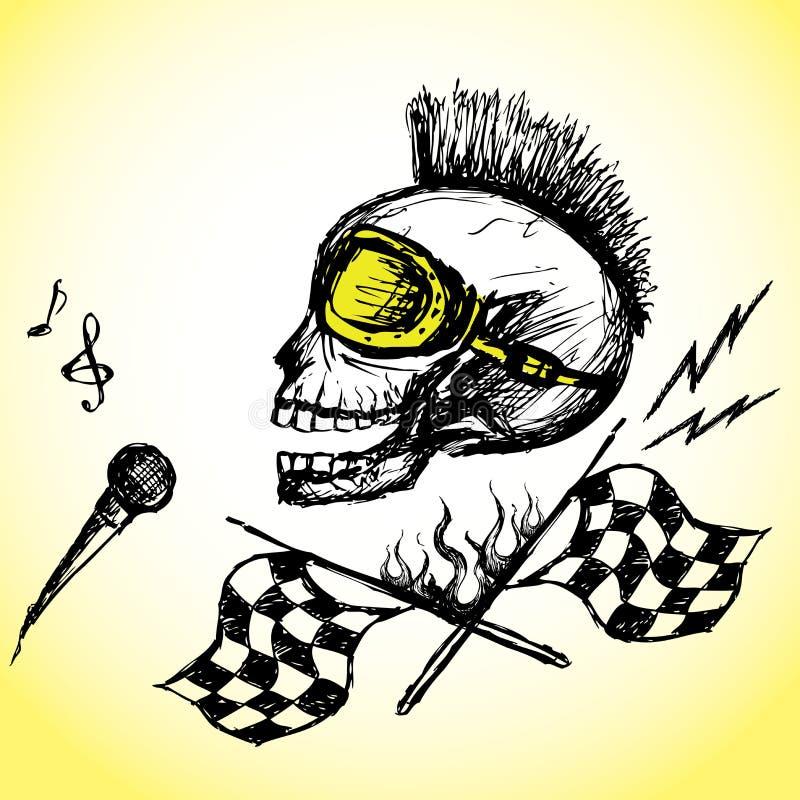 Etiqueta da bicicleta da motocicleta ilustração do vetor