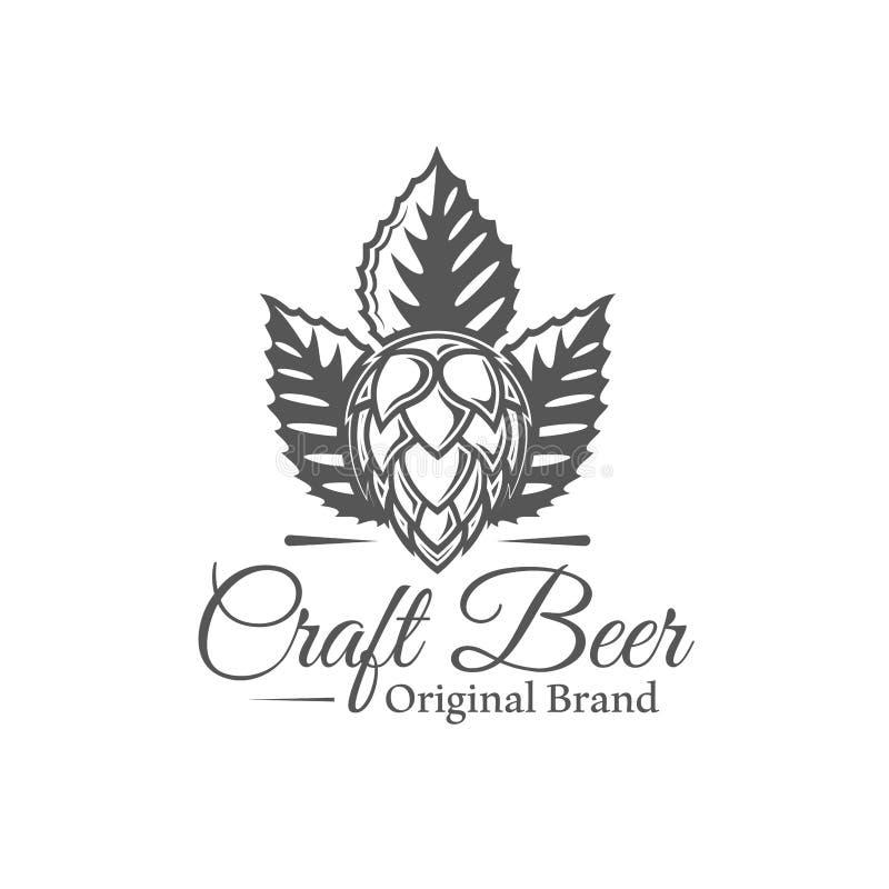 Etiqueta da cerveja isolada no fundo branco ilustração stock