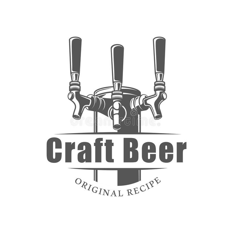 Etiqueta da cerveja isolada no fundo branco ilustração royalty free