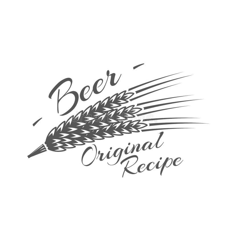 Etiqueta da cerveja isolada no fundo branco ilustração do vetor