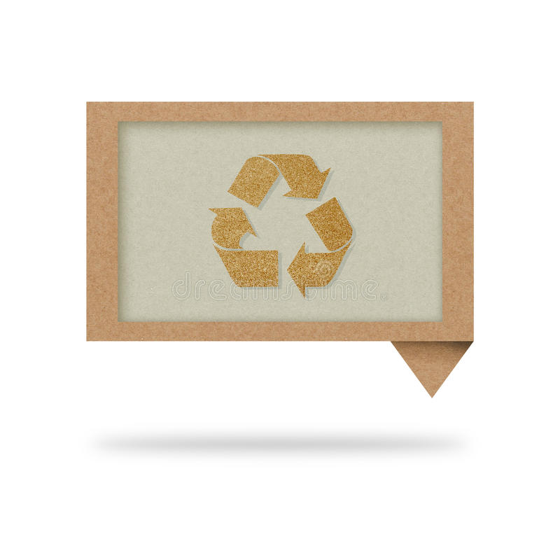 A etiqueta da conversa com recicl o sinal ilustração do vetor