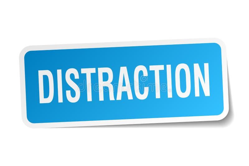 etiqueta da distração ilustração stock