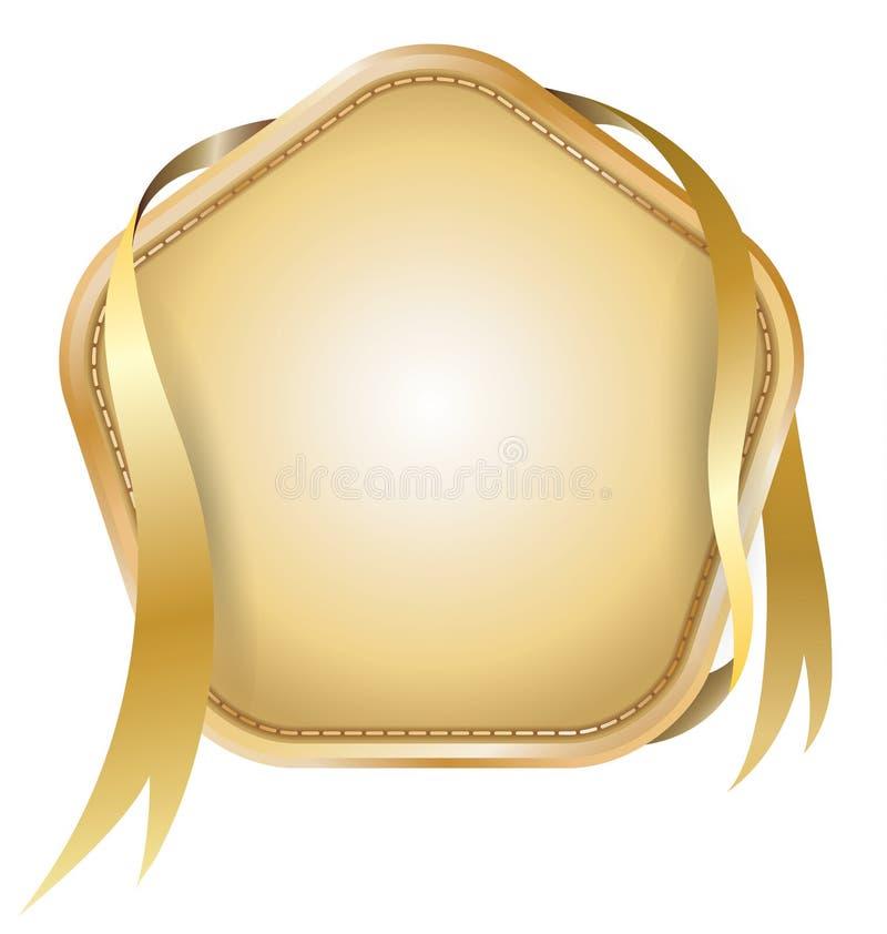 Etiqueta da estrela com fita ilustração royalty free
