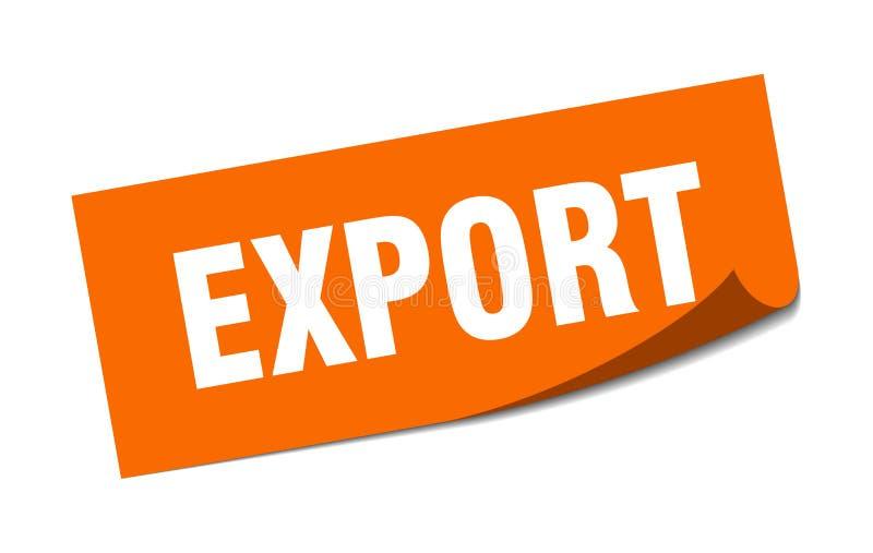 etiqueta da exporta??o ilustração royalty free