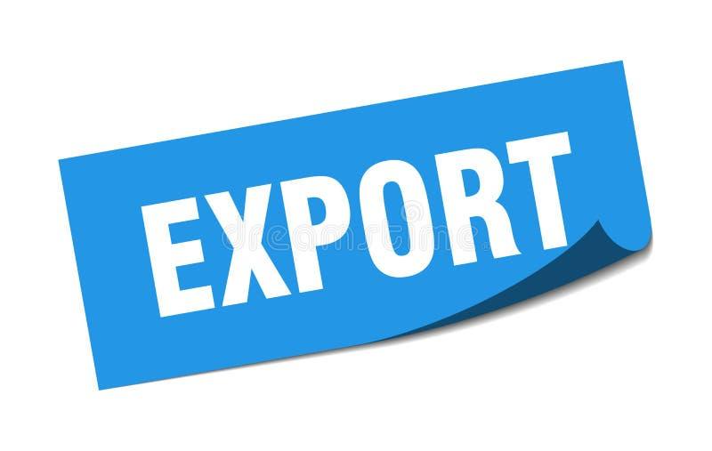 etiqueta da exporta??o ilustração stock