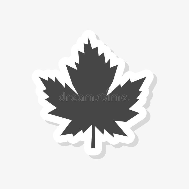 Etiqueta da folha de bordo, ícone simples do vetor ilustração do vetor