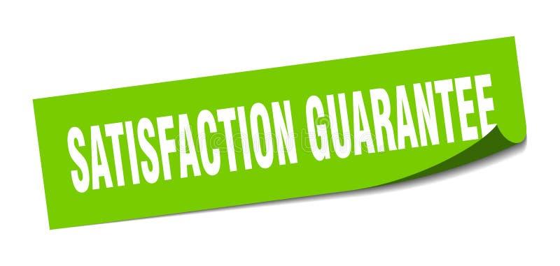 etiqueta da garantia da satisfa??o ilustração do vetor