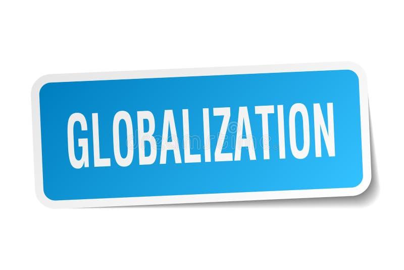 etiqueta da globalização ilustração do vetor
