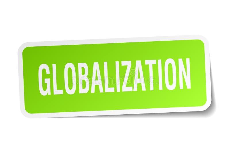 etiqueta da globalização ilustração royalty free