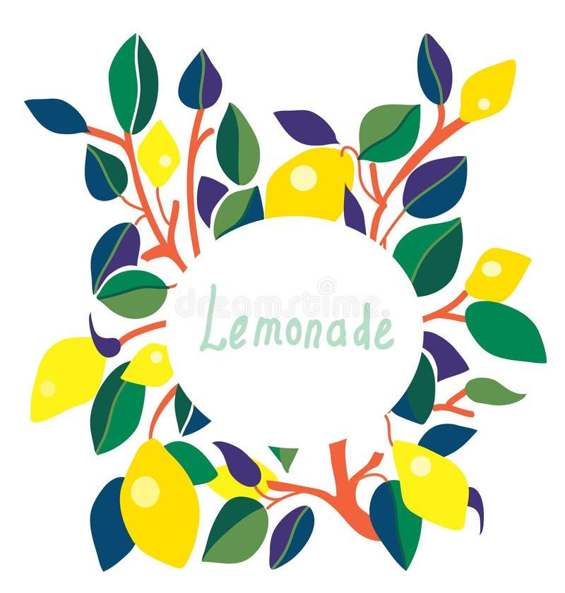 Etiqueta da limonada - projeto brilhante ilustração do vetor