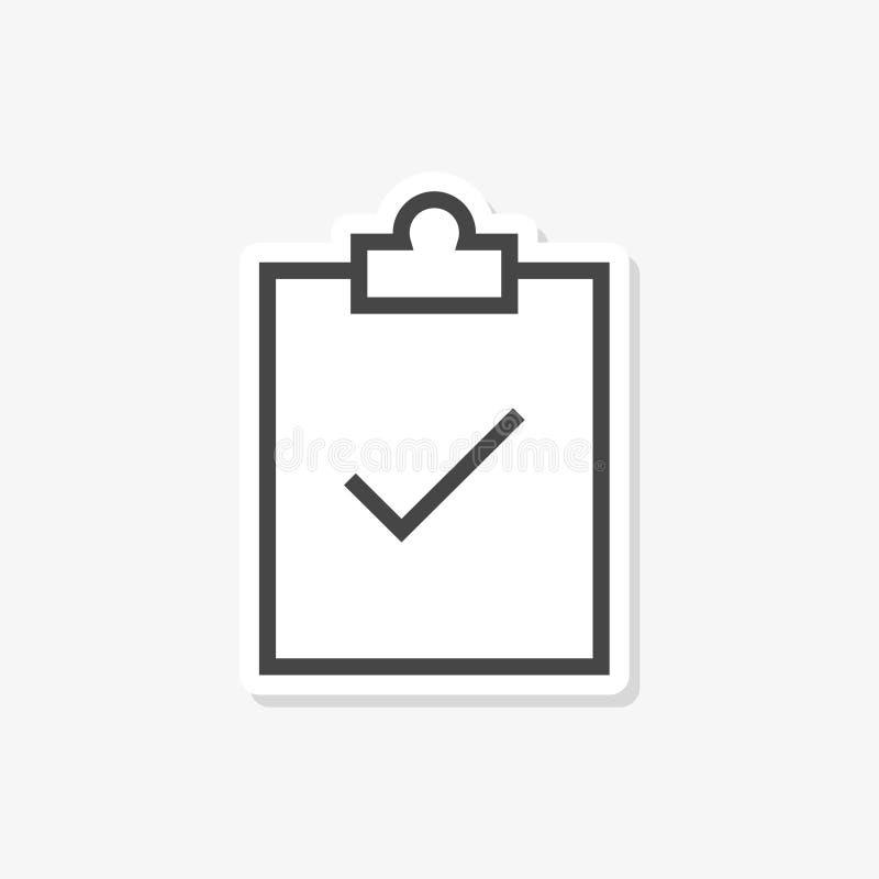 A etiqueta da lista de verificação, formulário do ícone da lista de verificação aprovou, ícone simples do vetor ilustração do vetor