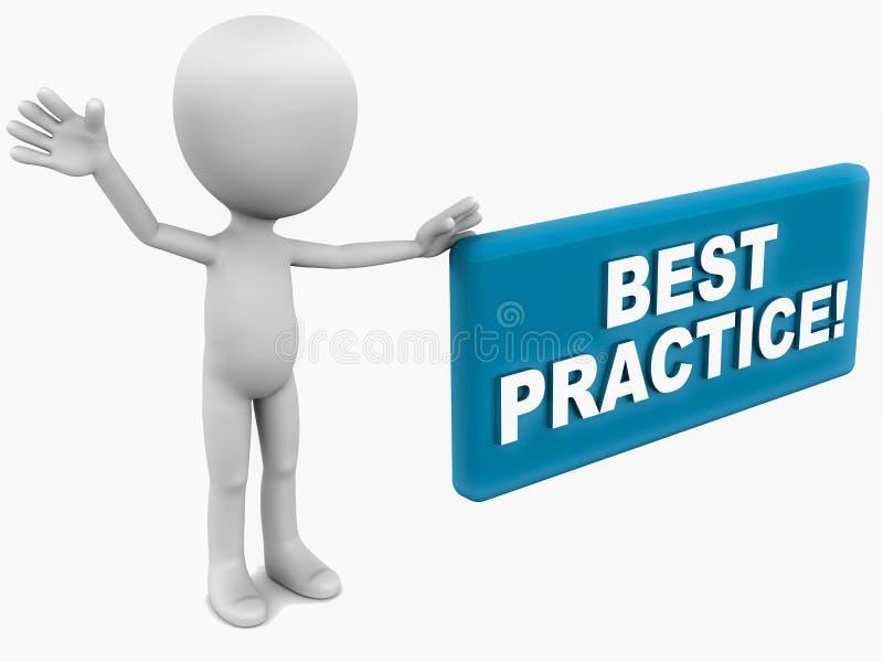 Melhor prática ilustração stock