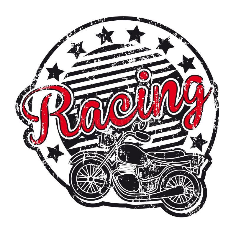 Etiqueta da motocicleta ilustração do vetor