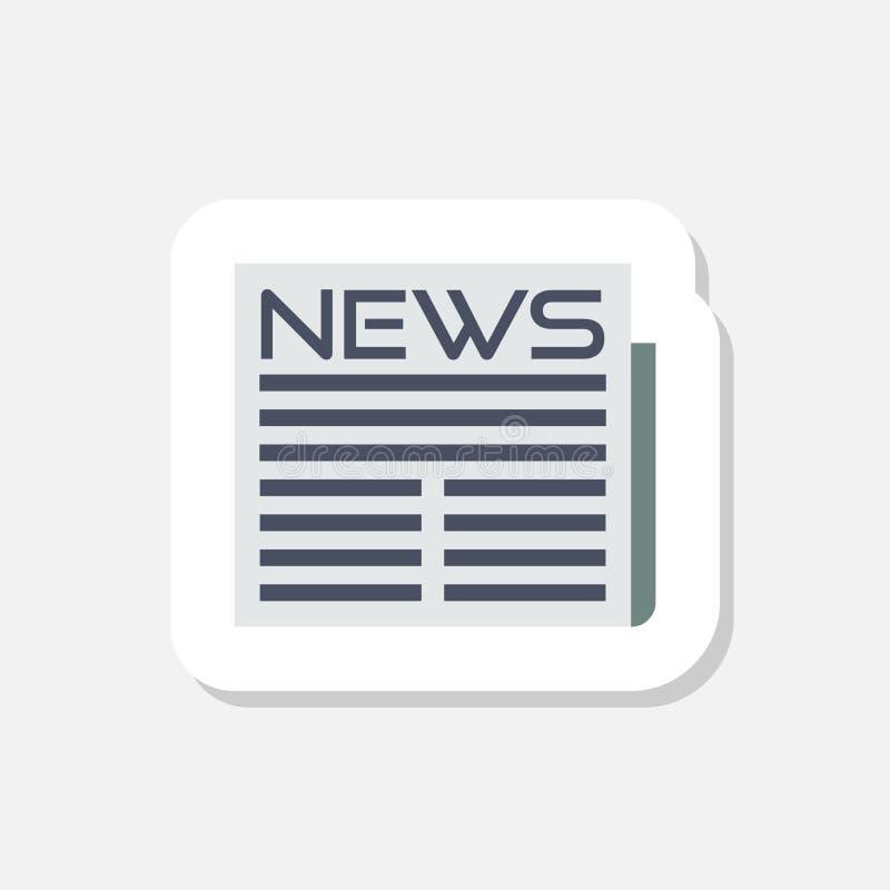 Etiqueta da notícia isolada no fundo branco Sinal simples do ícone da notícia ilustração do vetor