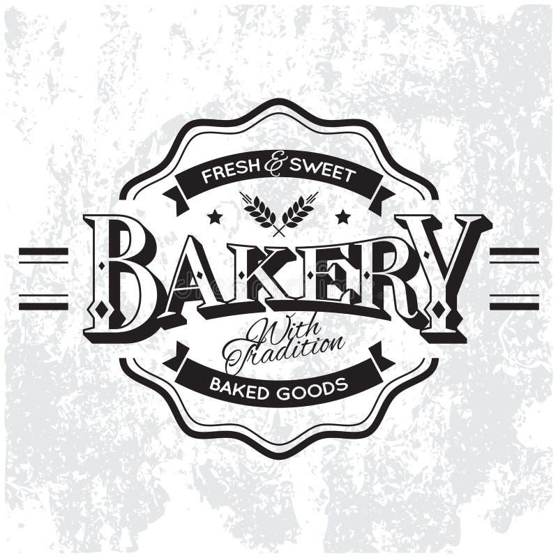 Etiqueta da padaria ilustração stock