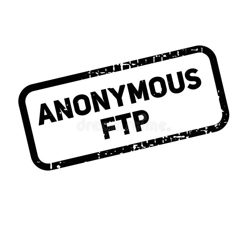 Etiqueta da propaganda do Anonymous FTP ilustração royalty free