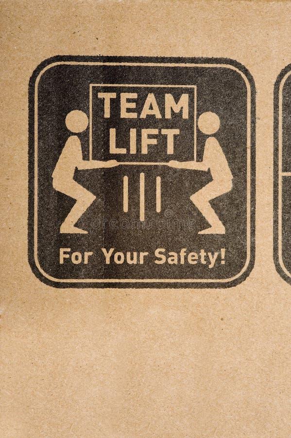 Etiqueta da segurança na caixa ilustração royalty free