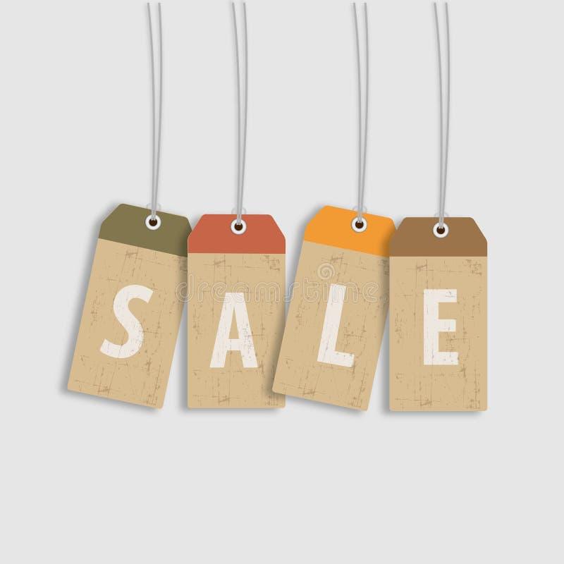 Etiqueta da venda ilustração stock