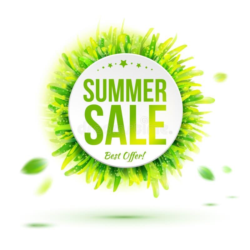 Etiqueta da venda da temporada de verão a melhor ilustração do vetor