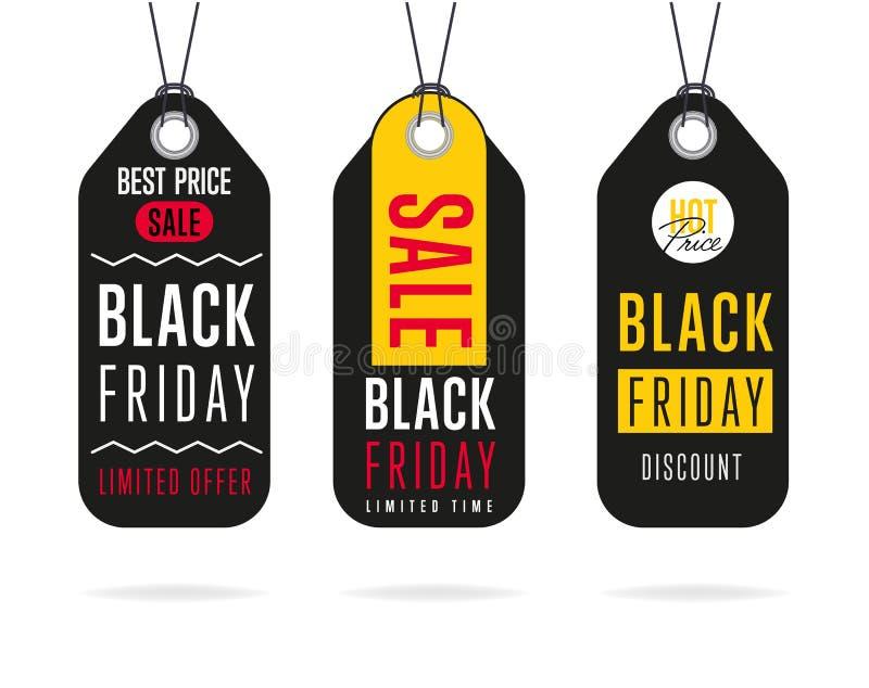 Etiqueta da venda de Black Friday isolada ilustração stock