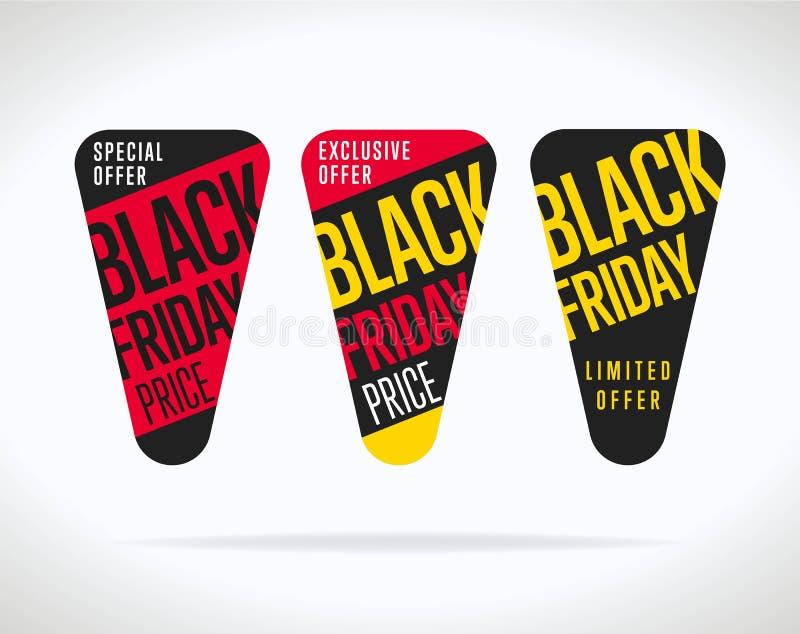 Etiqueta da venda de Black Friday isolada ilustração royalty free