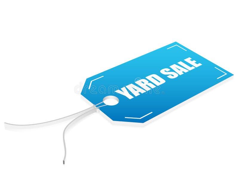 Etiqueta da venda de jarda ilustração royalty free