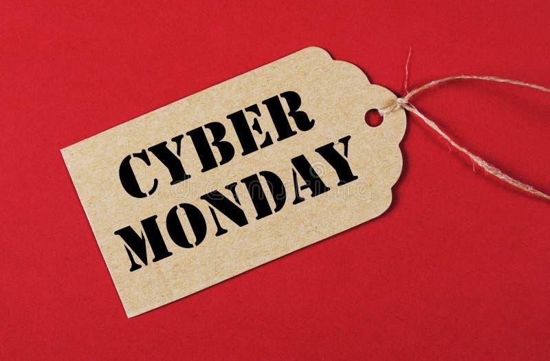 Etiqueta da venda de segunda-feira do Cyber imagem de stock royalty free