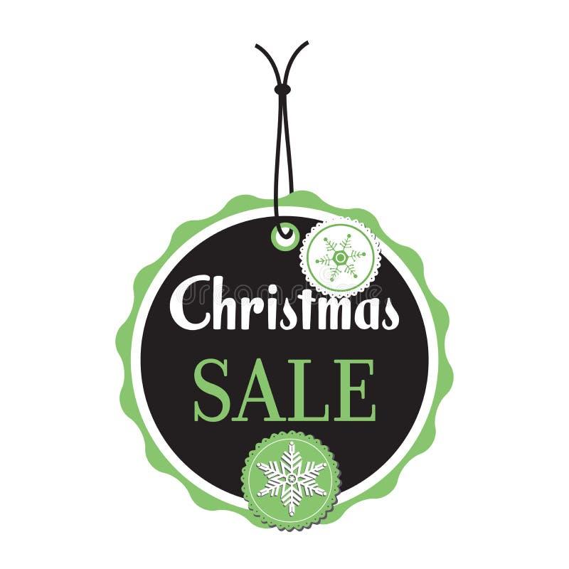 Etiqueta da venda do Natal ilustração do vetor