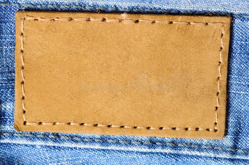 Etiqueta das calças de brim imagem de stock royalty free