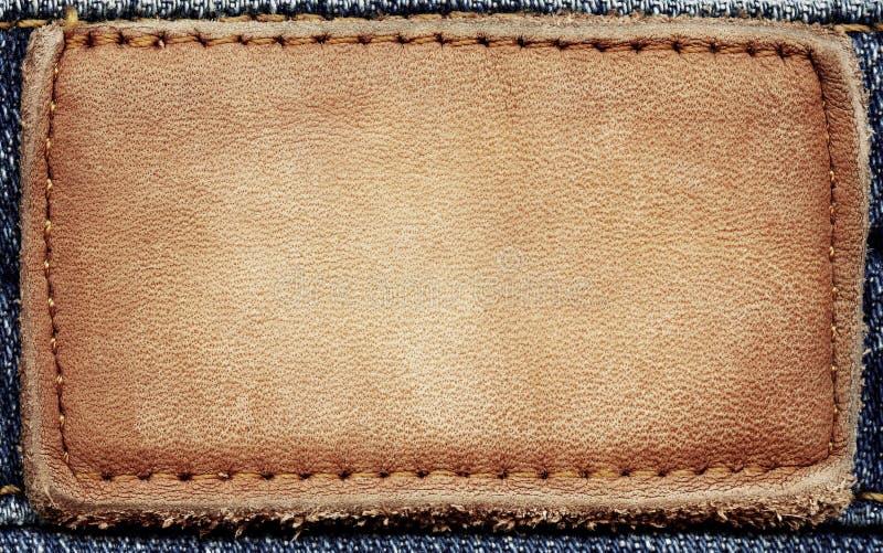 Etiqueta das calças de brim ilustração royalty free