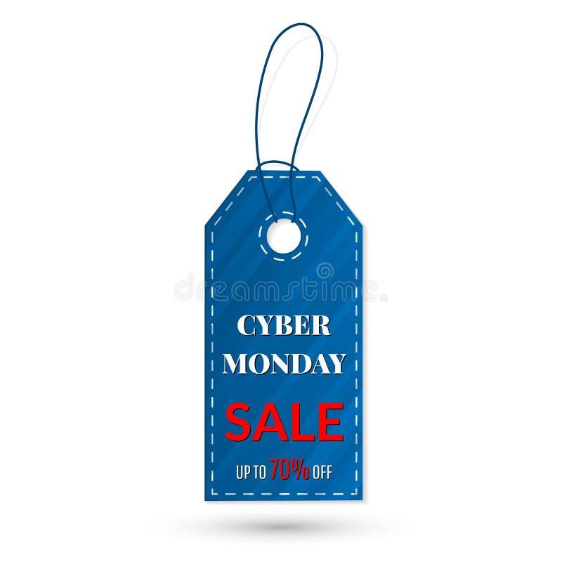 Etiqueta das vendas de segunda-feira do Cyber vetor, agrupado para a edição fácil Venda, disconto, propaganda, preço do mercado ilustração do vetor