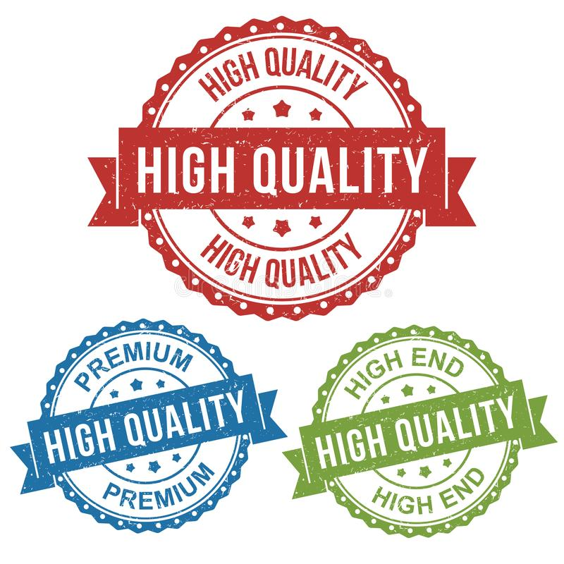 Etiqueta de alta calidad, de gama alta, superior, del vector de la insignia de la etiqueta del sello para el producto, comerciali ilustración del vector