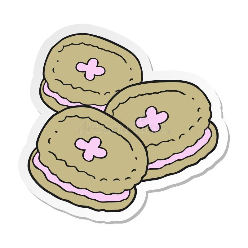 etiqueta de biscoitos de uns desenhos animados ilustração royalty free